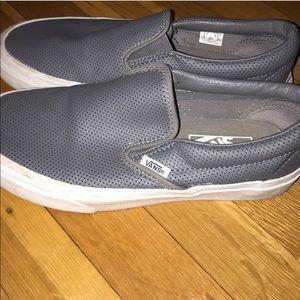 Grey vans classic slip on